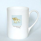 Bertie Basset China Mug