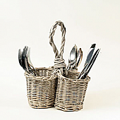 Grey Willow Cutlery and Utensil Holder