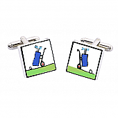Golf Trolley Cufflinks