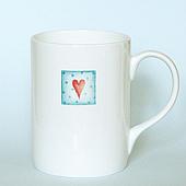 Aqua Heart Mug