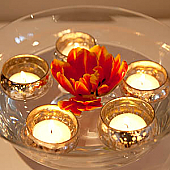 Avari Glass Tea Light Holder - Set of 6