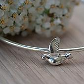 Silver Bird Bangle