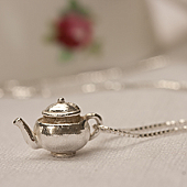 Silver Teapot Necklace